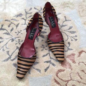 Nicole Miller Calf hair heels